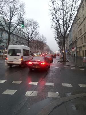 Rush-hour in der Lassallestraße
