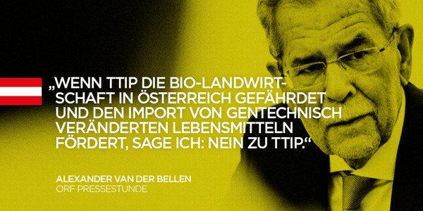 Klare Meinung von Van der Bellen zu TTIP